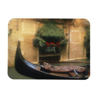 Gondola and Restaurant, Venice, Veneto, Italy Rectangular Photo Magnet