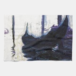 Góndola de Monet en Venecia Toallas De Mano