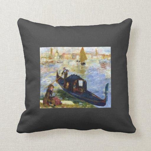 Góndola de Pedro-Auguste Renoir- Almohada