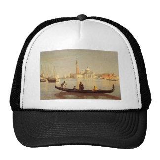 Góndola de Venecia en el Gran Canal de Camilo Gorros Bordados