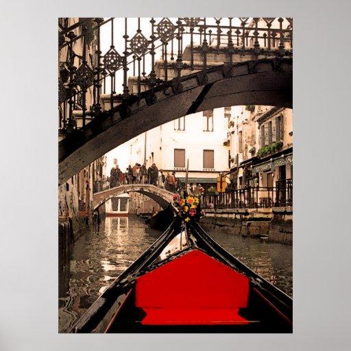 Góndola debajo del puente, poster