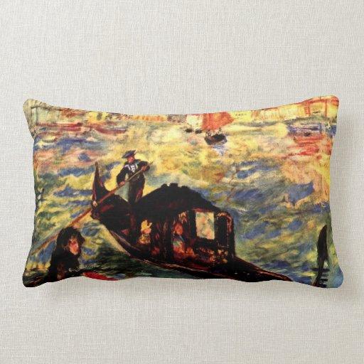 Góndola en el Canale grande por Pedro Renoir Cojines