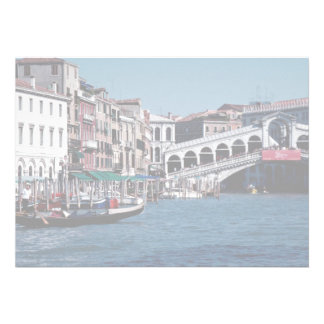 Góndola en el Gran Canal puente de Rialto Veneci Anuncio Personalizado
