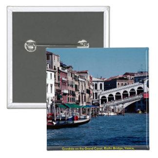 Góndola en el Gran Canal puente de Rialto Veneci Pins