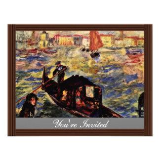 Góndola en el Gran Canal Venecia de Pedro-Augus Invitacion Personal