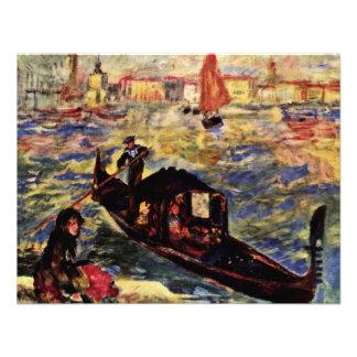 Góndola en el Gran Canal Venecia de Pedro-Augus Invitacion Personalizada
