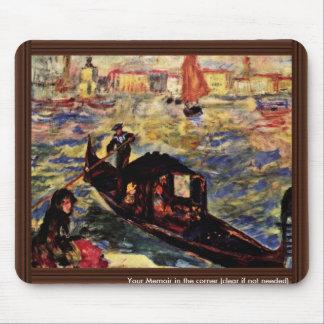 Góndola en el Gran Canal, Venecia de Pedro-Augus Tapete De Ratones
