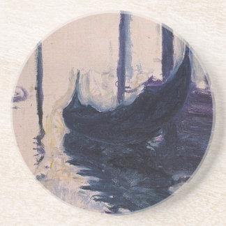 Góndola en Venecia de Claude Monet Posavasos De Arenisca