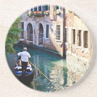 Góndola en Venecia Italia Posavasos De Arenisca