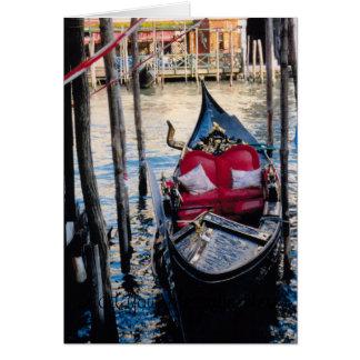 Góndola en Venecia Italia Tarjetón