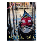 Góndola en Venecia Italia Tarjeta Postal