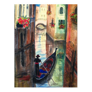 Góndola en Venecia Italia Tarjetas Postales