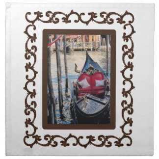 Góndola enmarcada adornada en Venezia Servilleta De Papel