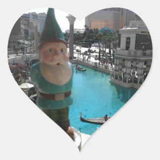 Gondola Gnome I Heart Sticker