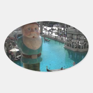 Gondola Gnome I Oval Sticker