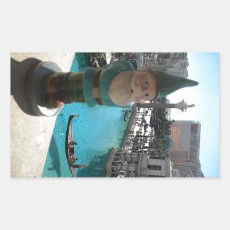 Gondola Gnome I Rectangular Sticker
