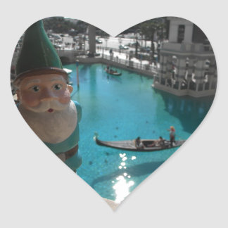 Gondola Gnome II Heart Sticker