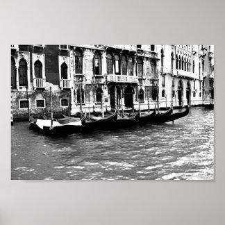 Gondola - greyscale poster