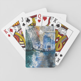 Gondola in the Grand Canal of Venice Italy Playing Cards