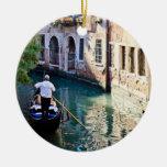 Gondola in Venice Italy Ceramic Ornament