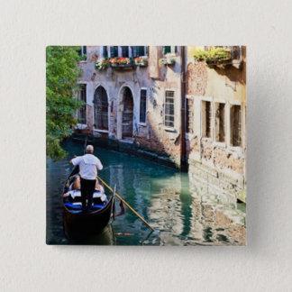 Gondola in Venice Italy Pinback Button