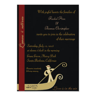 Gondola - Love is in the air 5x7 Paper Invitation Card