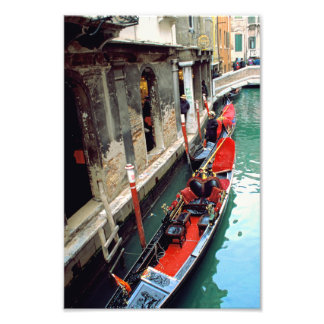 Gondola on a Small Canal Photo Print