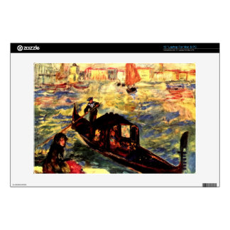 """Gondola on the Canale Grande by Pierre Renoir Decals For 13"""" Laptops"""