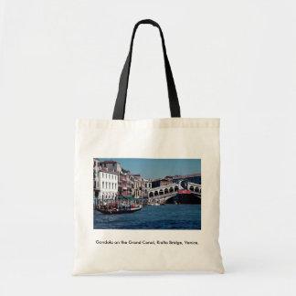 Gondola on the Grand Canal Rialto Bridge Venice Bags
