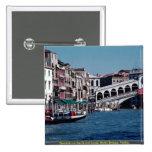 Gondola on the Grand Canal, Rialto Bridge, Venice, Pins