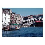 Gondola on the Grand Canal, Rialto Bridge, Venice, Invitations
