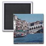 Gondola on the Grand Canal, Rialto Bridge, Venice, Fridge Magnets