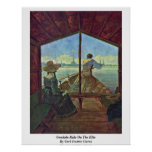 Gondola Ride On The Elbe By Carl Gustav Carus Poster