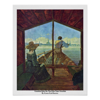 Gondola Ride On The Elbe Near Dresden Poster