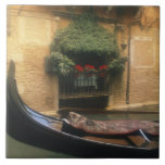Góndola y restaurante, Venecia, Véneto, Italia Azulejo