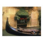 Góndola y restaurante, Venecia, Véneto, Italia Postal