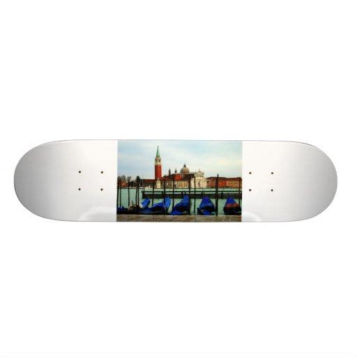 Gondolas and San Giorgio Maggiore, Venice Skateboard Decks