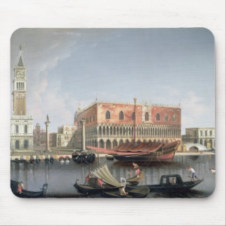 Gondolas before St. Marks Square, Venice Mouse Pad