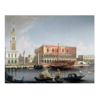 Gondolas before St. Marks Square, Venice Postcard