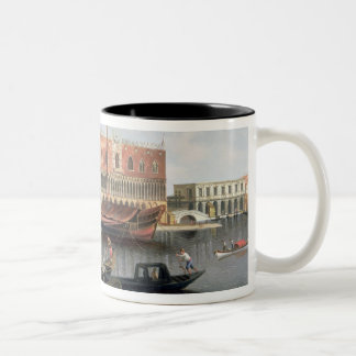 Gondolas before St. Marks Square, Venice Two-Tone Coffee Mug