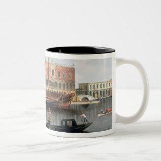 Gondolas before St. Marks Square, Venice Two-Tone Coffee Mug