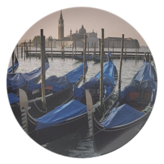 Gondolas by Saint Marks Square in Italy Melamine Plate