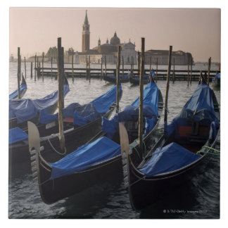 Gondolas by Saint Marks Square in Italy Tiles
