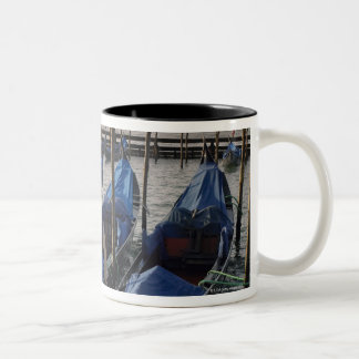 Gondolas by Saint Marks Square in Italy Two-Tone Coffee Mug