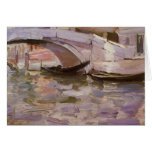 Gondolas by Sargent, Vintage Victorian Fine Art Greeting Cards