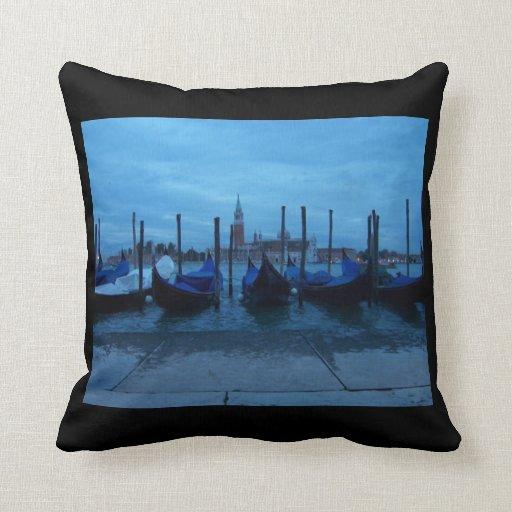 Góndolas de Venecia Italia Almohada