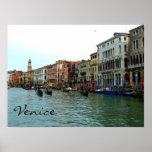 Góndolas de Venecia, Italia en el poster del Gran