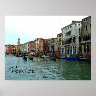 Góndolas de Venecia, Italia en el poster del Gran  Póster