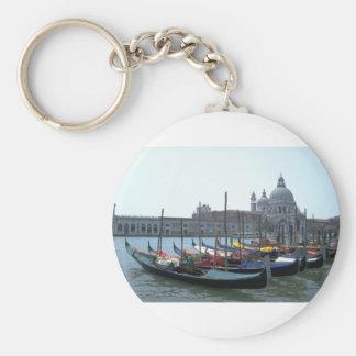 Góndolas en el Gran Canal Venecia Italia Llavero