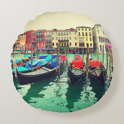 Góndolas en el Gran Canal, Venecia, Italia. Retro